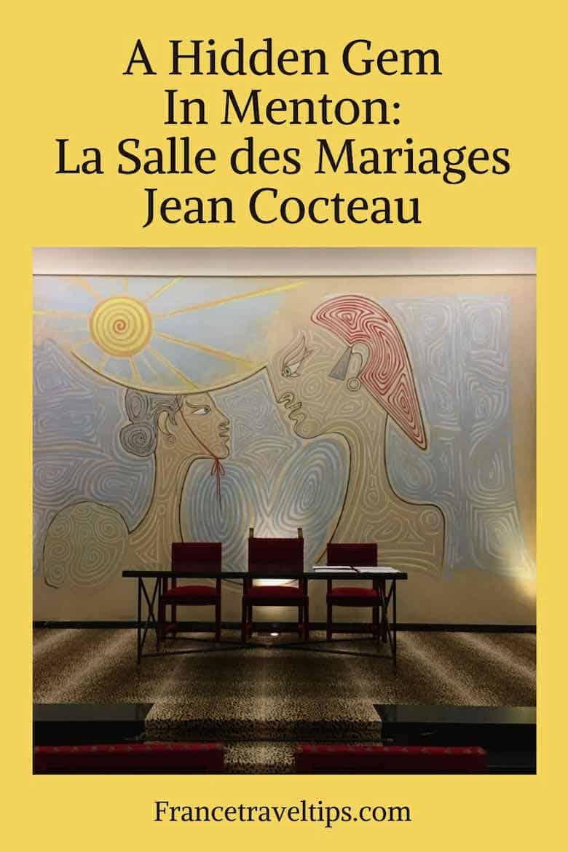A Hidden Gem In Menton- La Salle des Mariages Jean Cocteau