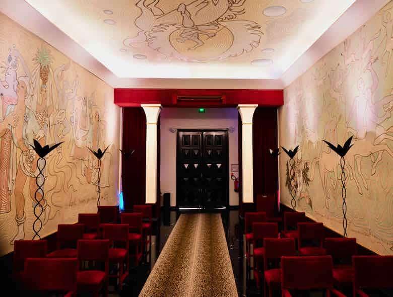 Inside La Salle des Mariages, Jean Cocteau Menton