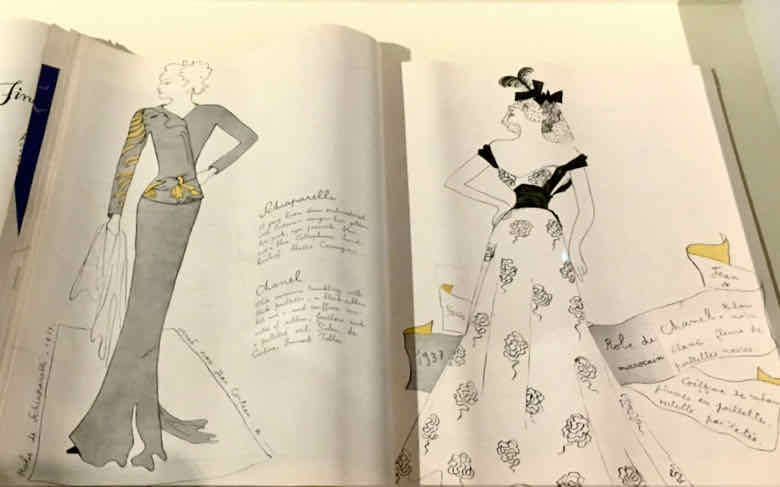 Fashion drawings by Cocteau at Le Bastion