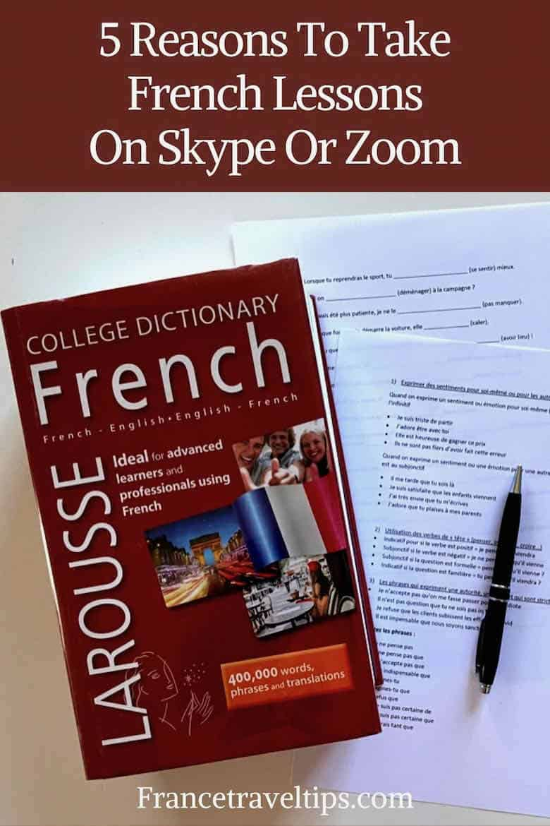 5 reasons to take French lessons on Skype or Zoom