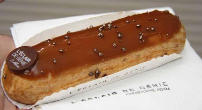 Salted caramel eclair-L'Eclair de Genie, Paris