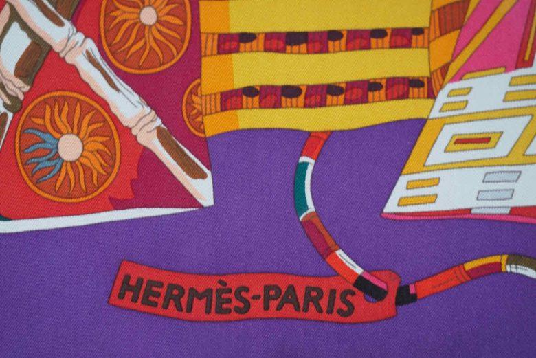 Hermes logo on the scarf