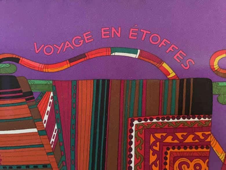 Title of Hermes scarf: Voyage en Etoffes