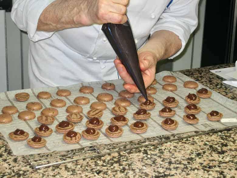 Making macarons at Le Cordon Bleu