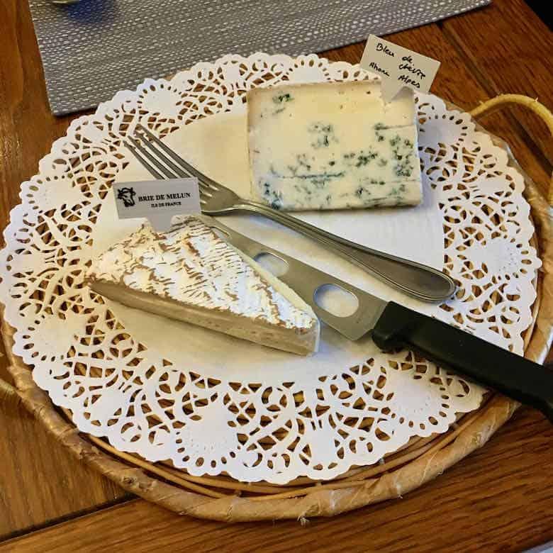 Brie de Melun and Bleu de Chevre Cheese