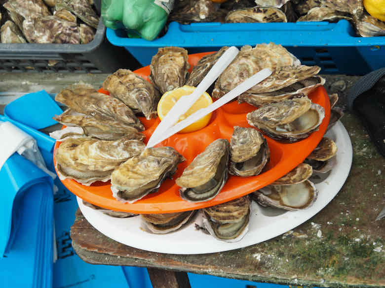 Oysters in Cancale, Brittany