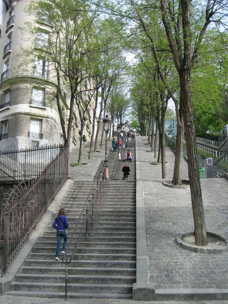 Stairs in Montmartre, Paris